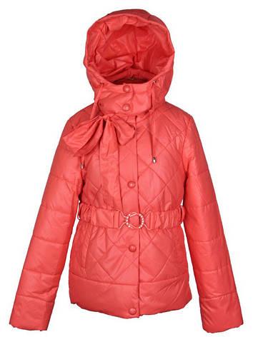 Куртка подростковая демисезонная  Moonbox  для девочки  от 9 до 12 лет коралловая, фото 2