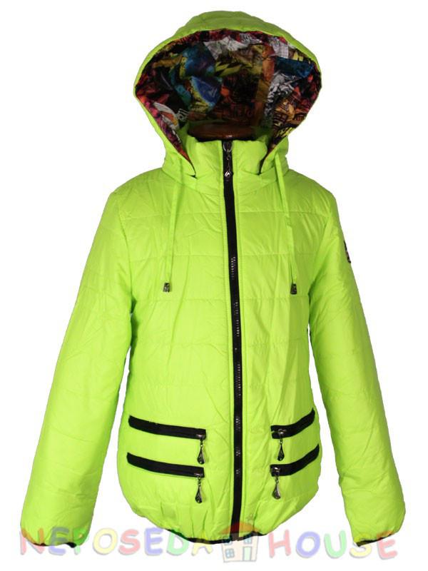 Куртка подростковая демисезонная Moonbox для девочки  от 9 до 12 лет  лимонная