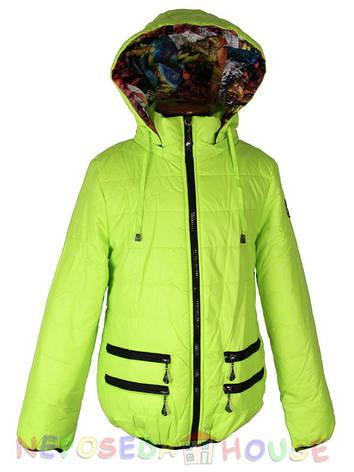 Куртка подростковая демисезонная Moonbox для девочки  от 9 до 12 лет  лимонная, фото 2
