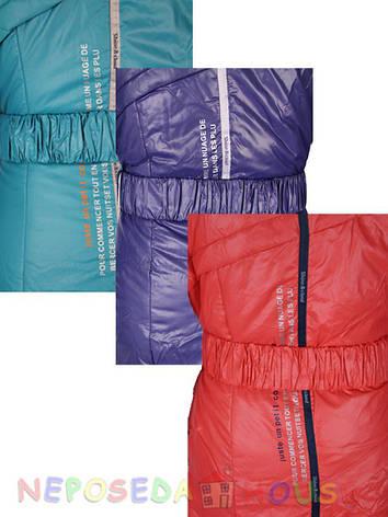 Куртка подростковая демисезонная Moonbox для девочки  от 9 до 12 лет  удлиненная бирюзовая, фото 2