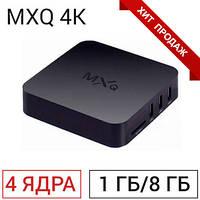 ТВ-приставка MXQ 4K (1/8 ГБ) 4-ядерная на Android 7.1
