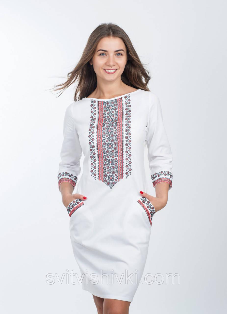 Жіноче плаття в сучасному стилі з українською вишивкою