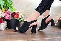 Черные замшевые босоножки, каблук 36 38 39