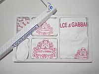 Подарочный набор Dolce  Gabbana в роддом, на крещение, 7 предметов, фото 1