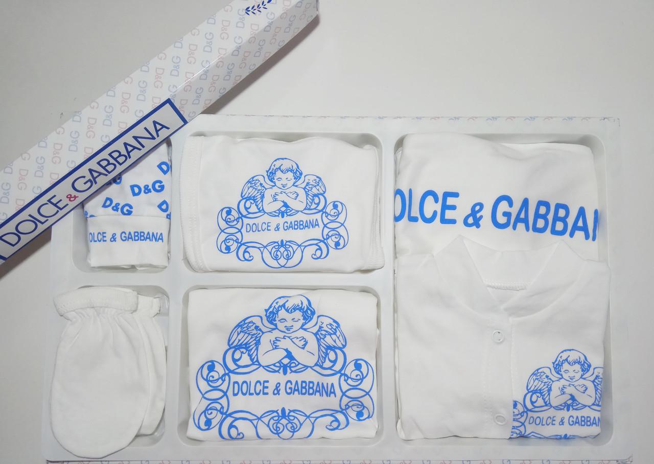 Подарочный набор Dolce  Gabbana в роддом, на крещение, 7 предметов
