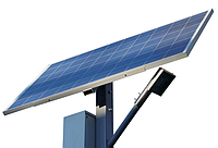 Фонарь уличного освещения 50Вт 12Вольт светодиодный с солнечной батареей 100Вт АКБ 65Ач