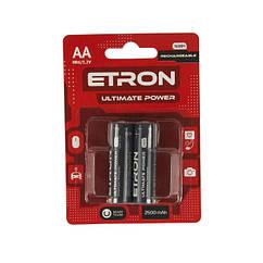 Аккумулятор никель-метал гидрид ETRON Ultimate Power AA 2500mAh Ni-Mh Ready 2Use Blister, 2 pcs 12, 120