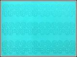 Мат для Айсинга (коврик) Цветочный бордюр, фото 3
