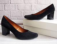 Замшевые туфли на каблуке оптом от производителя, фото 1