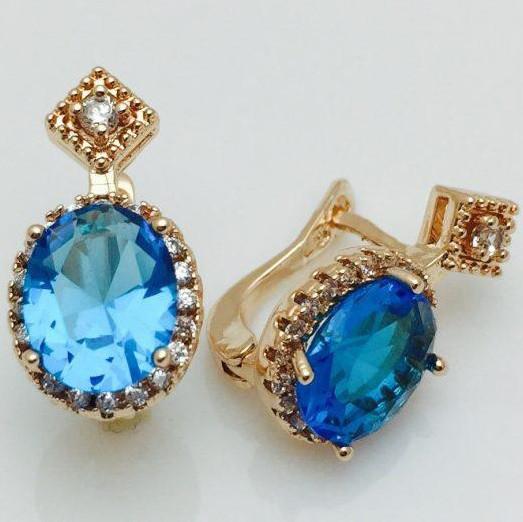Серьги Панацея с голубым камнем