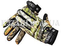 Перчатки тактические полнопалые 5.11 камуфлированные