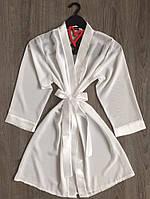 Білий прозорий жіночий халат