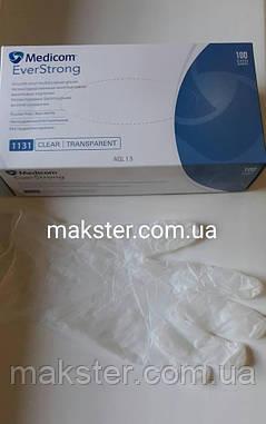 Перчатки виниловые неопудренные Medicom, фото 2