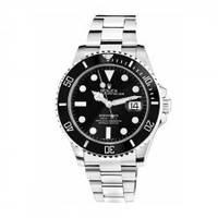 Механические наручные часы Rolex Submariner на металлическом ремешке с датой, фото 1