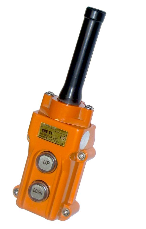 Пульт управления 2*кнопочный СОВ-61 IP54, резиновый ввод кабеля