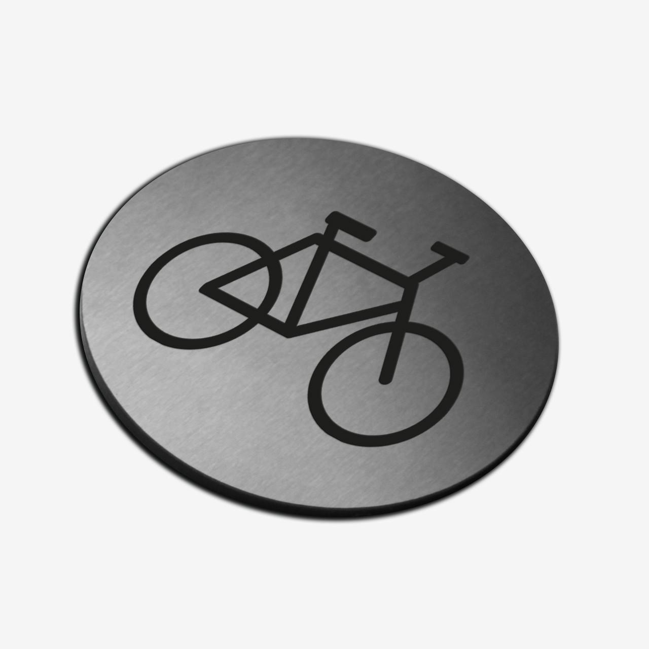 "Табличка кругла ""Велосипед"" Stainless Steel"