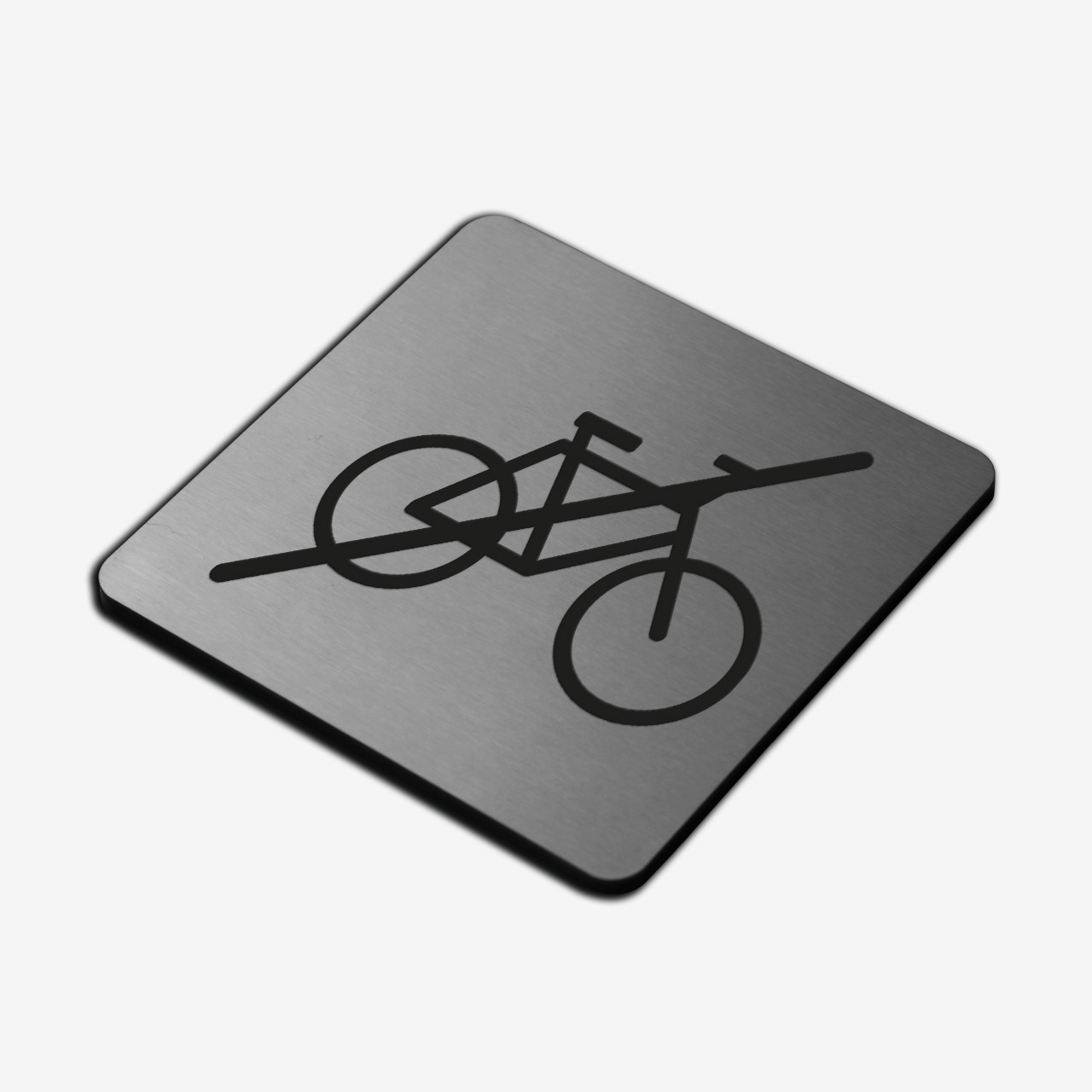 "Табличка ""Велосипед запрещен"" Stainless Steel"