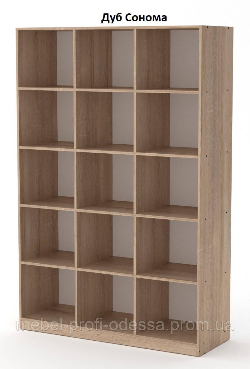 Кш 3 Компанит открытый стеллаж с полками для книг и документов