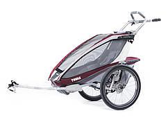 Детская коляска-прицеп для велосипеда Thule Chariot CX 1 (Burgundy)