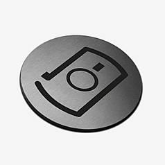 "Табличка кругла ""Фотографування"" Stainless Steel"