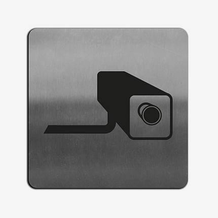 """Табличка """"Видеосъемка"""" Stainless Steel, фото 2"""