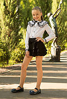 Школьная юбка-шорты для девочки