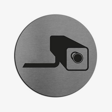 """Табличка круглая """"Видеосъемка"""" Stainless Steel, фото 2"""