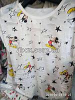 Футболка Рванка женская с потертостями Микки, звезды (42-46 универсальный).