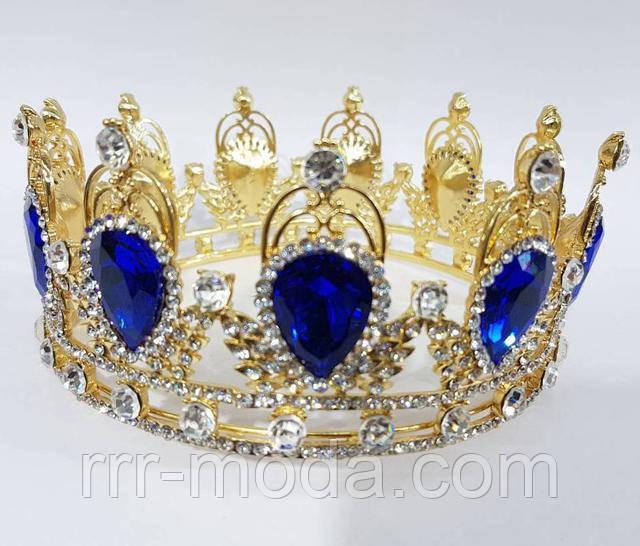 Бижутерия RRR свадебные тиара, золотая корона, диадема.