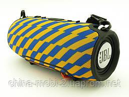 JBL XTREME 13 small Bluetooth колонка 40W с FM MP3 копия, синяя с желтым, фото 2