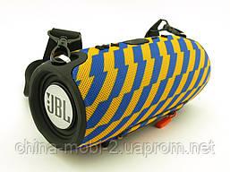 JBL XTREME 13 small Bluetooth колонка 40W с FM MP3 копия, синяя с желтым, фото 3