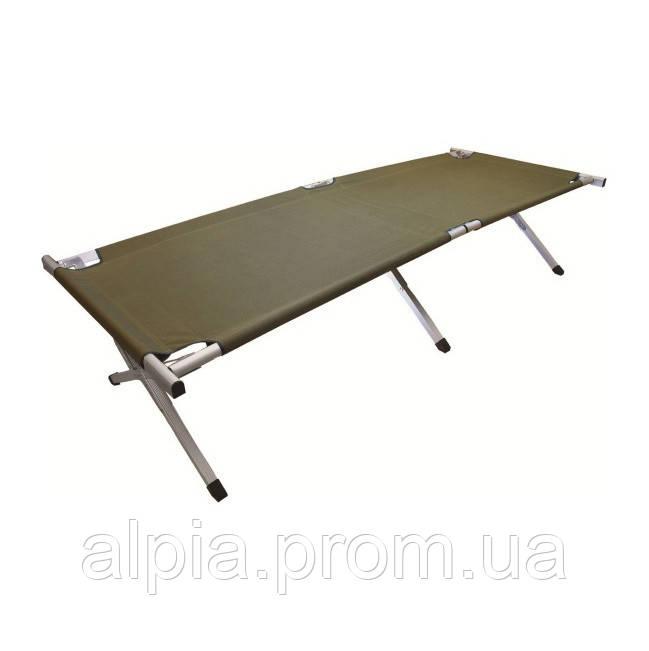 Кемпинговая кровать Highlander Aluminium Camp Bad Green