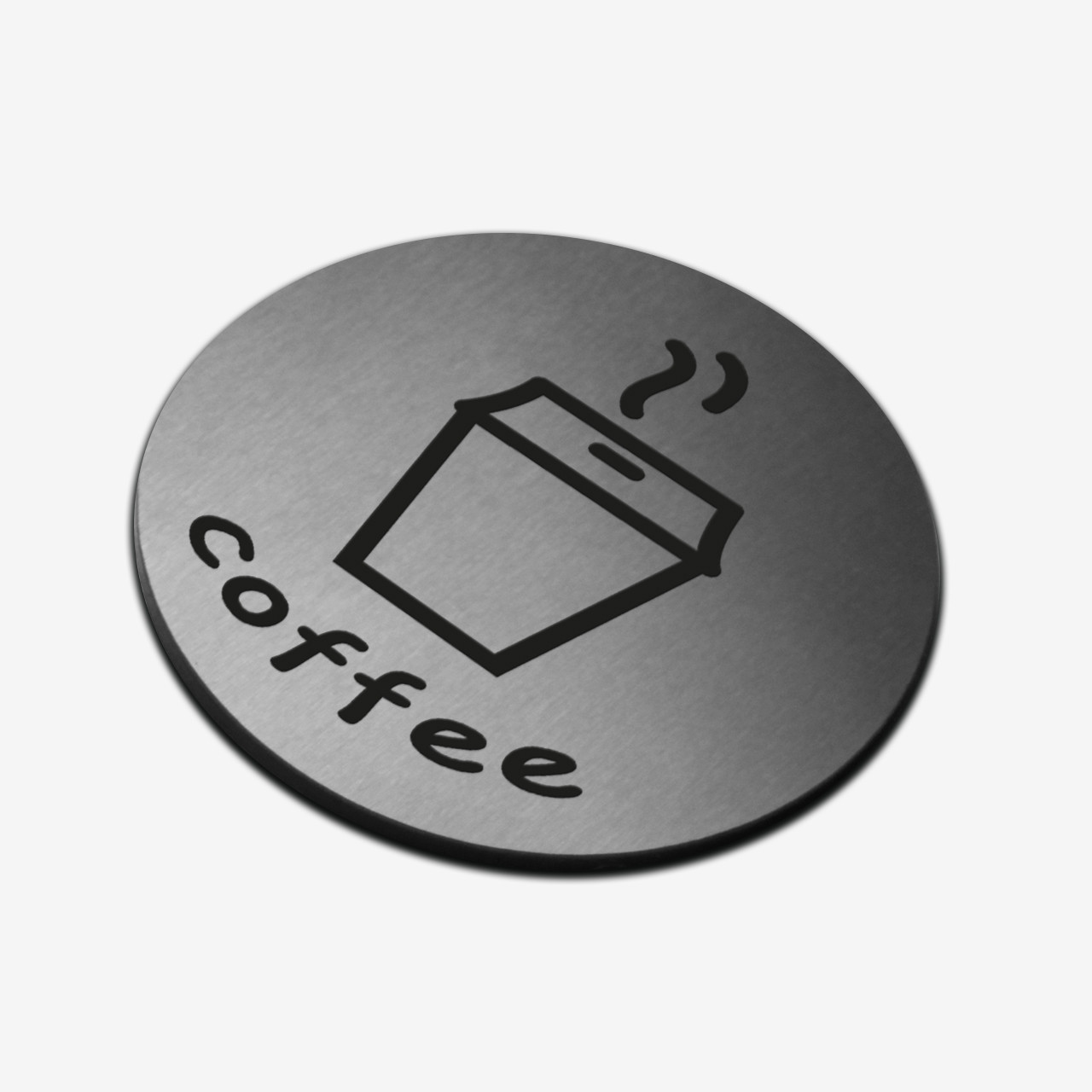 "Табличка круглая ""Кофе"" Stainless Steel"