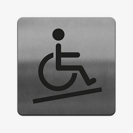 "Табличка ""Инвалид"" Stainless Steel, фото 2"
