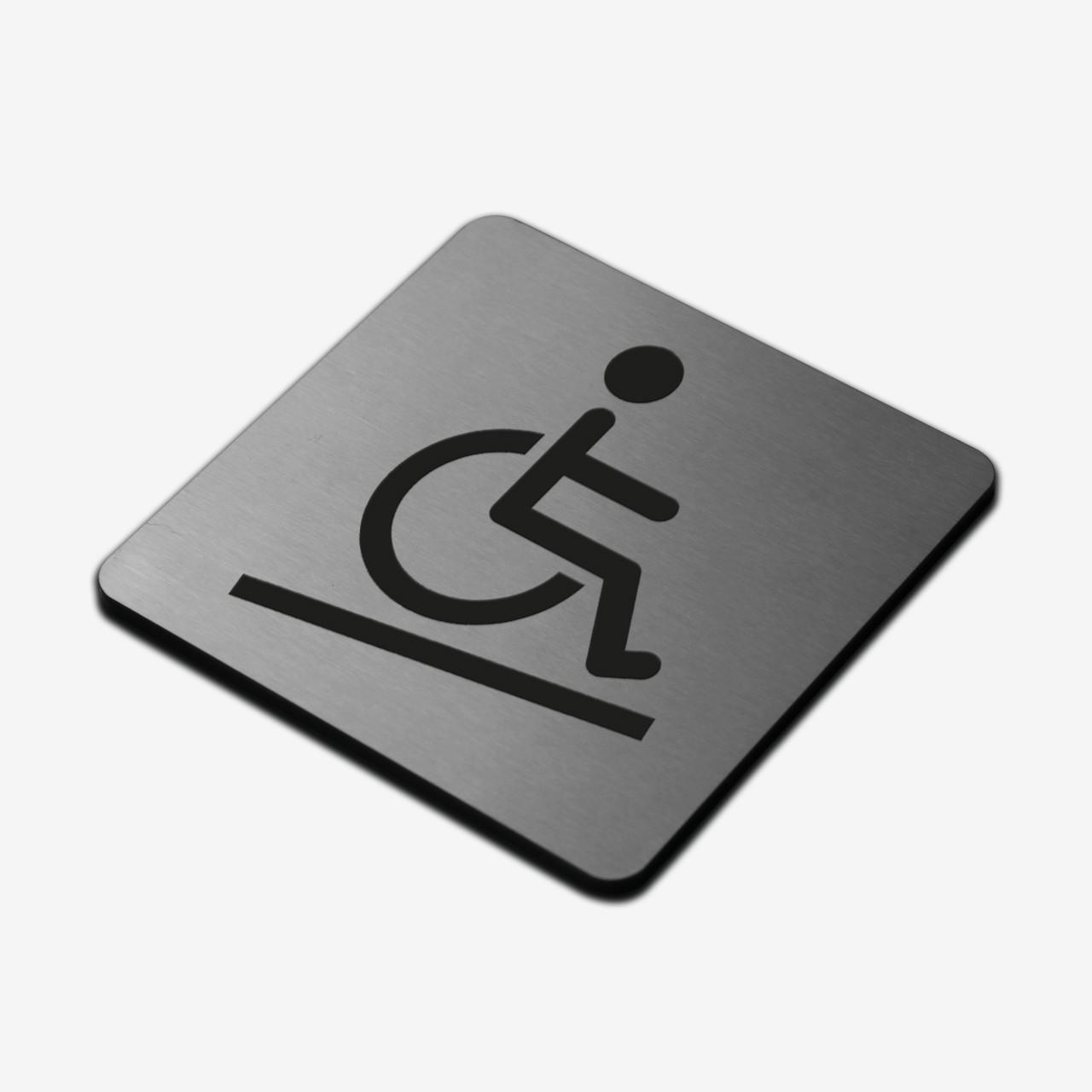 "Табличка ""Инвалид"" Stainless Steel"