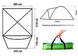 Туристическая палатка IGLO 4-OS 210х180 см, фото 3