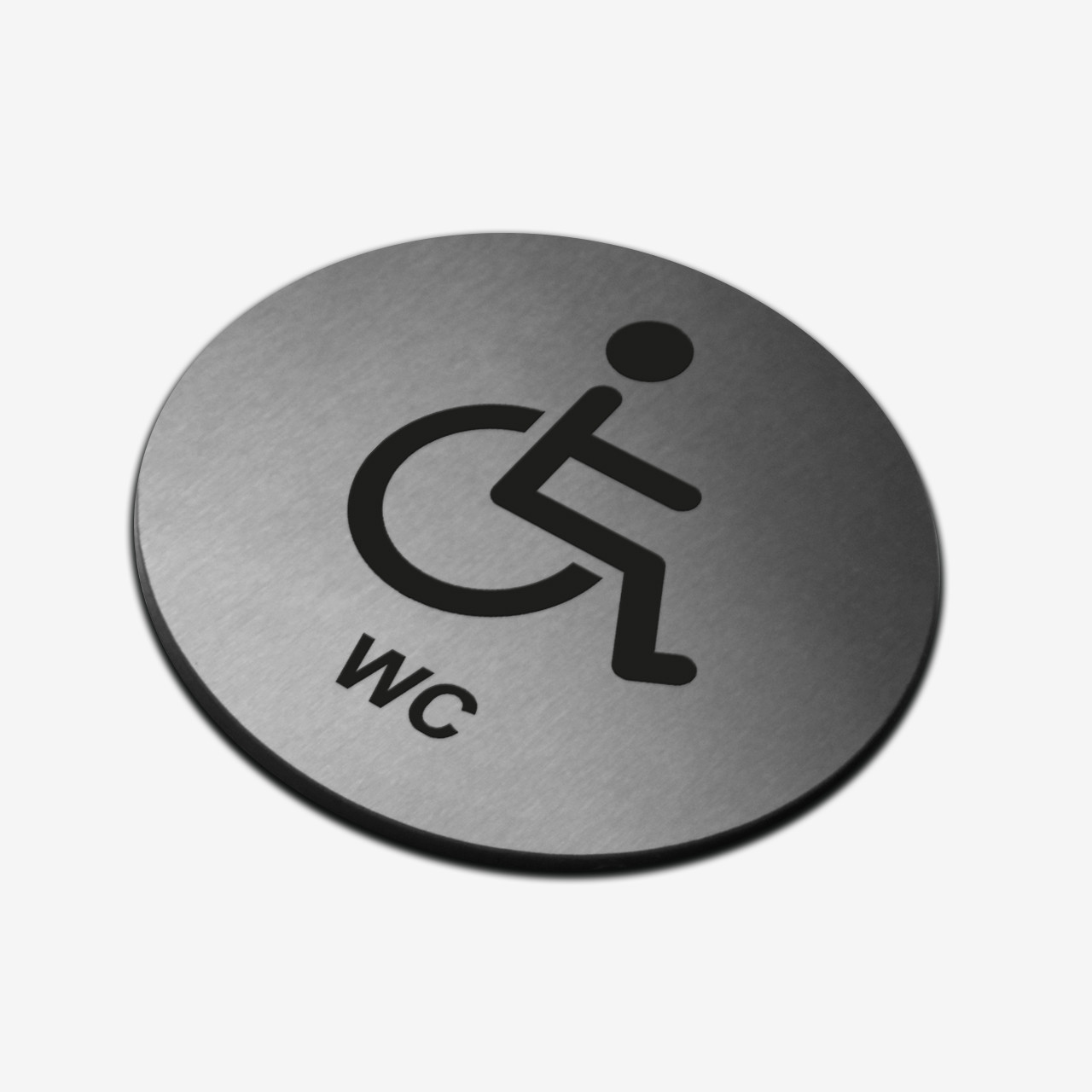 """Табличка кругла """"WC для інвалідів"""" Stainless Steel"""