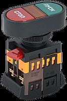 Кнопка APBB-22N Пуск-Стоп d22мм неон. 240V,1з+1р ІЕК