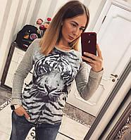 """Свитшот женский коттоновый """"Тигр"""". Турция, фото 1"""