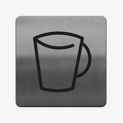 """Табличка """"Чашка"""" Stainless Steel, фото 2"""