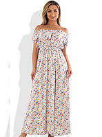 Женское платье в пол с открытыми плечами размеры от XL ПБ-557