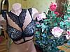 Оригинальный черно-бежевый лиф со съёмным декоративным воротником под шею