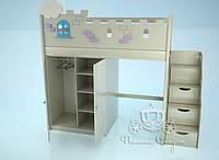 """Кровать - чердак """"Замок"""", лесница-комод, шкаф. , фото 1"""