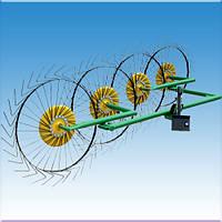 Грабли-ворошилки мотоблочные Солнышко(4-х колесные)