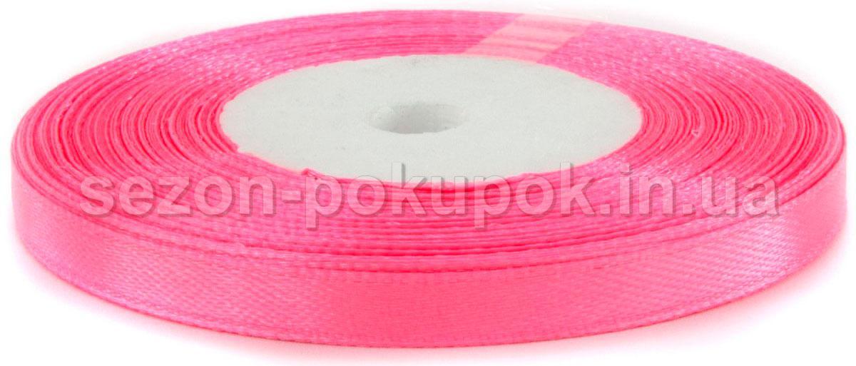 Лента атласная 0,6см (6мм) 23 метра  цвет - розовый