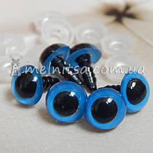 Глазки для игрушек  10 мм + крепление, голубые (2 шт) УЦЕНКА