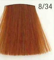 Стойкая крем-краска для волос WELLA 8/34 Koleston Светлый блондин золотисто-оранжевый 60 мл