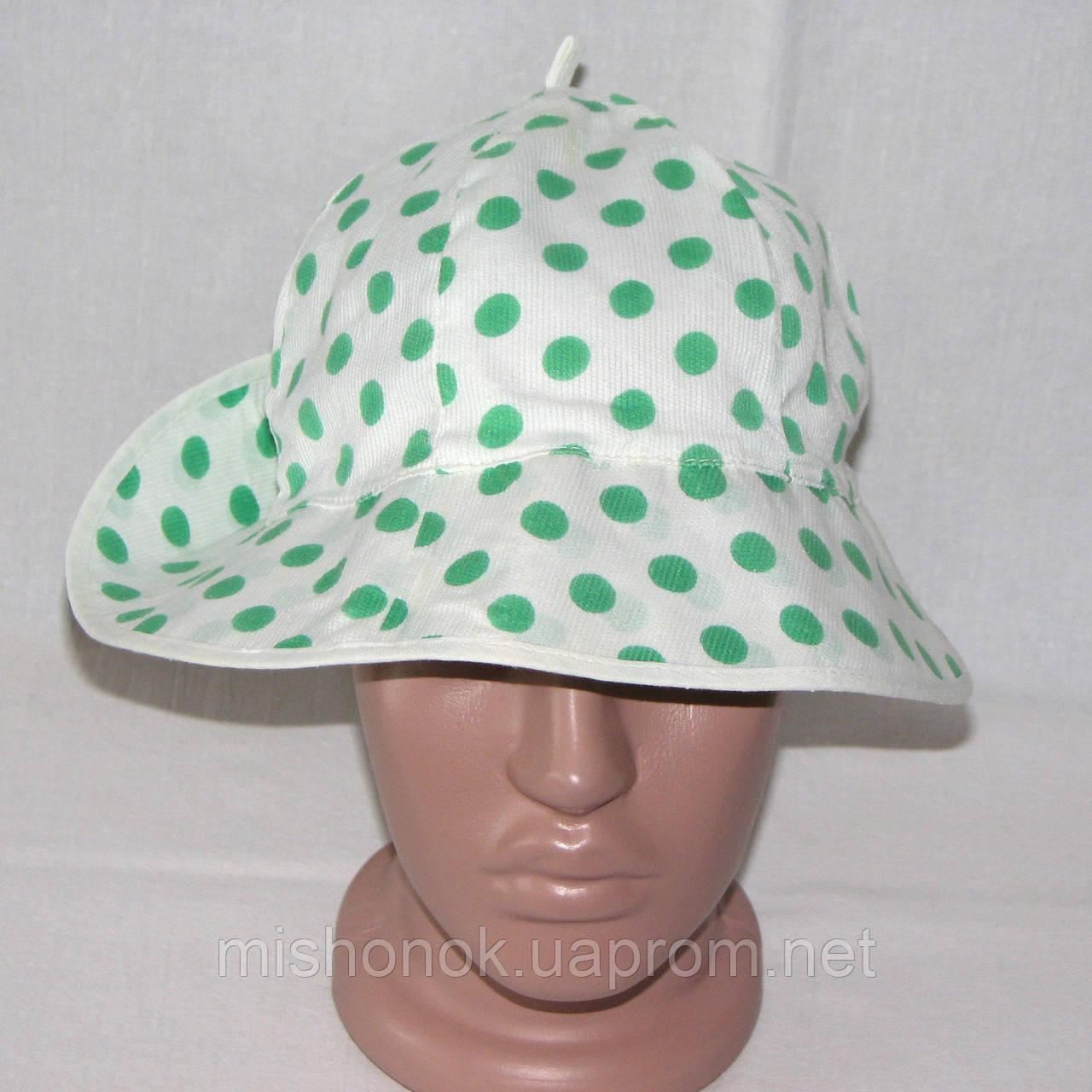 Панамка женская, хлопковая шляпка для пляжа в горошек, р. 54