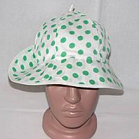 Панамка женская, хлопковая шляпка для пляжа в горошек, р. 54, фото 1