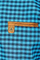 Рубашка мужская крупная клетка 272F043-2 (Сине-голубой)